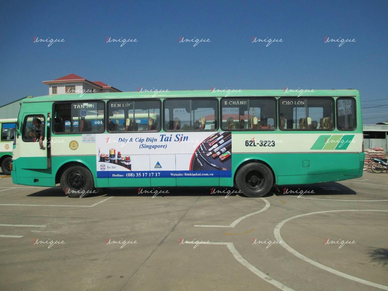 Quảng cáo xe bus tại Long An