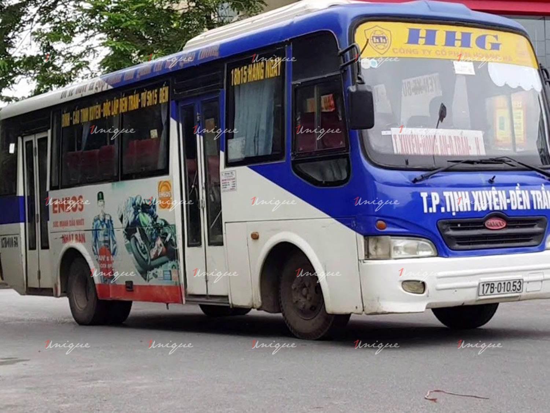 quảng cáo xe bus thái bình