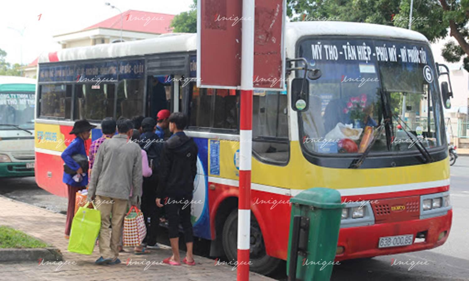 quảng cáo xe bus tại tiền giang