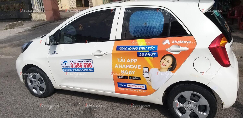 Chiến dịch quảng cáo trên taxi chào mừng AhaMove đã đến với Hải Phòng