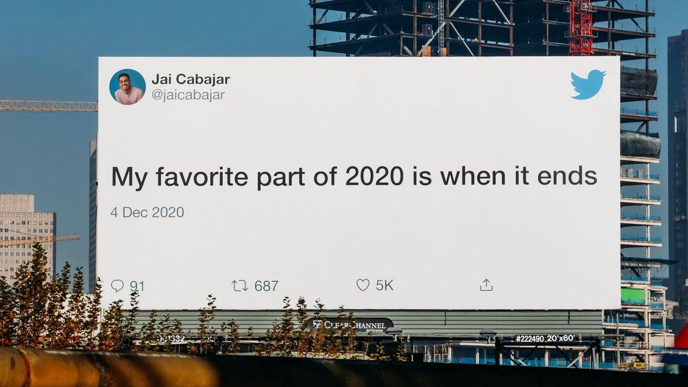 Chiến dịch OOH của Twitter tạm biệt một năm 2020 đầy sóng gió