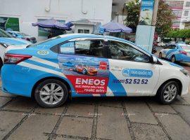 Eneos quảng cáo trên taxi tại Nha Trang