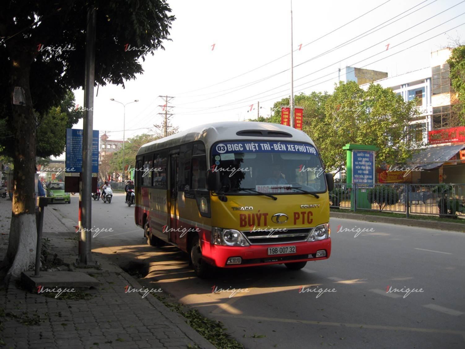 quảng cáo xe bus tại phú thọ