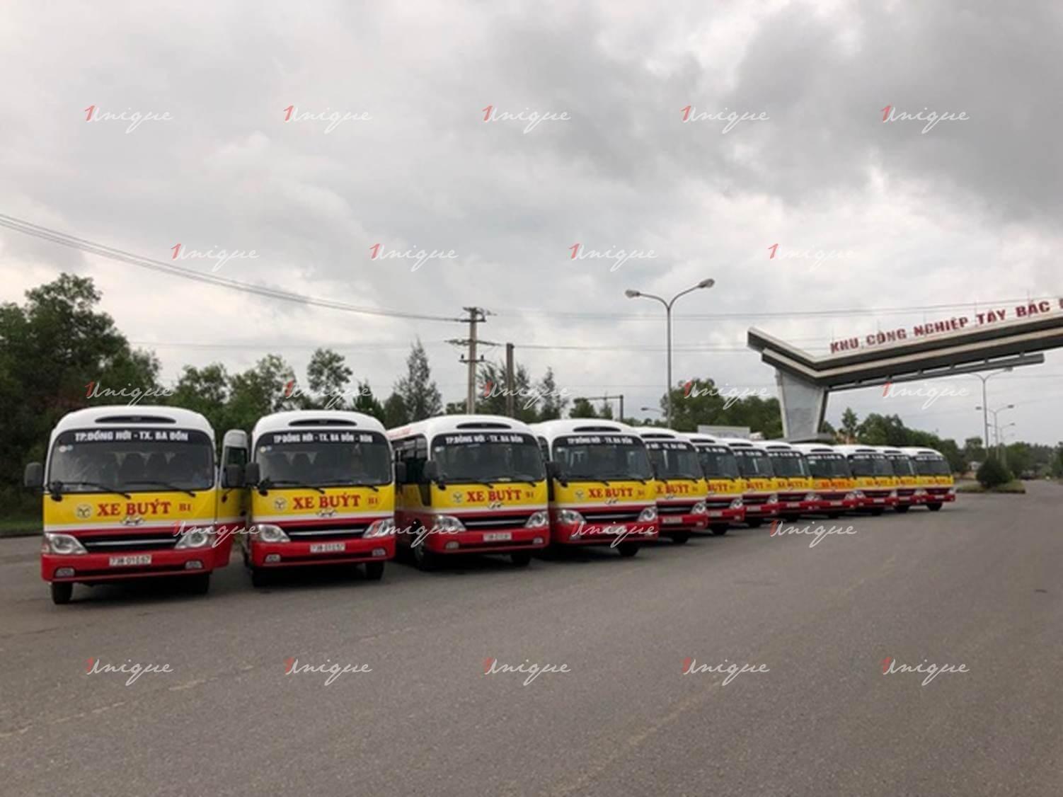 quảng cáo xe bus tại quảng bình