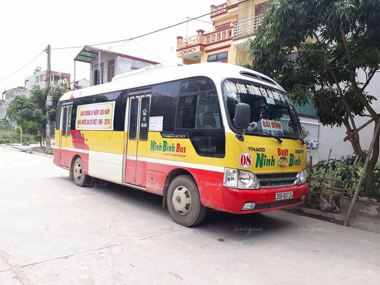Quảng cáo xe bus tại Ninh Bình