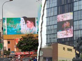 """MV """"Bức bình phong"""" của Trịnh Thăng Bình xuất hiện trên bảng Led đắc địa nhất trung tâm Sài Gòn"""