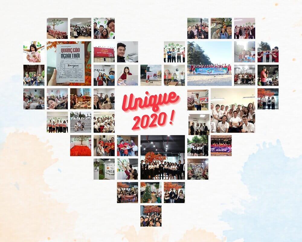 Unique tạm biệt 2020, đón chào 2021 rực rỡ, tươi mới