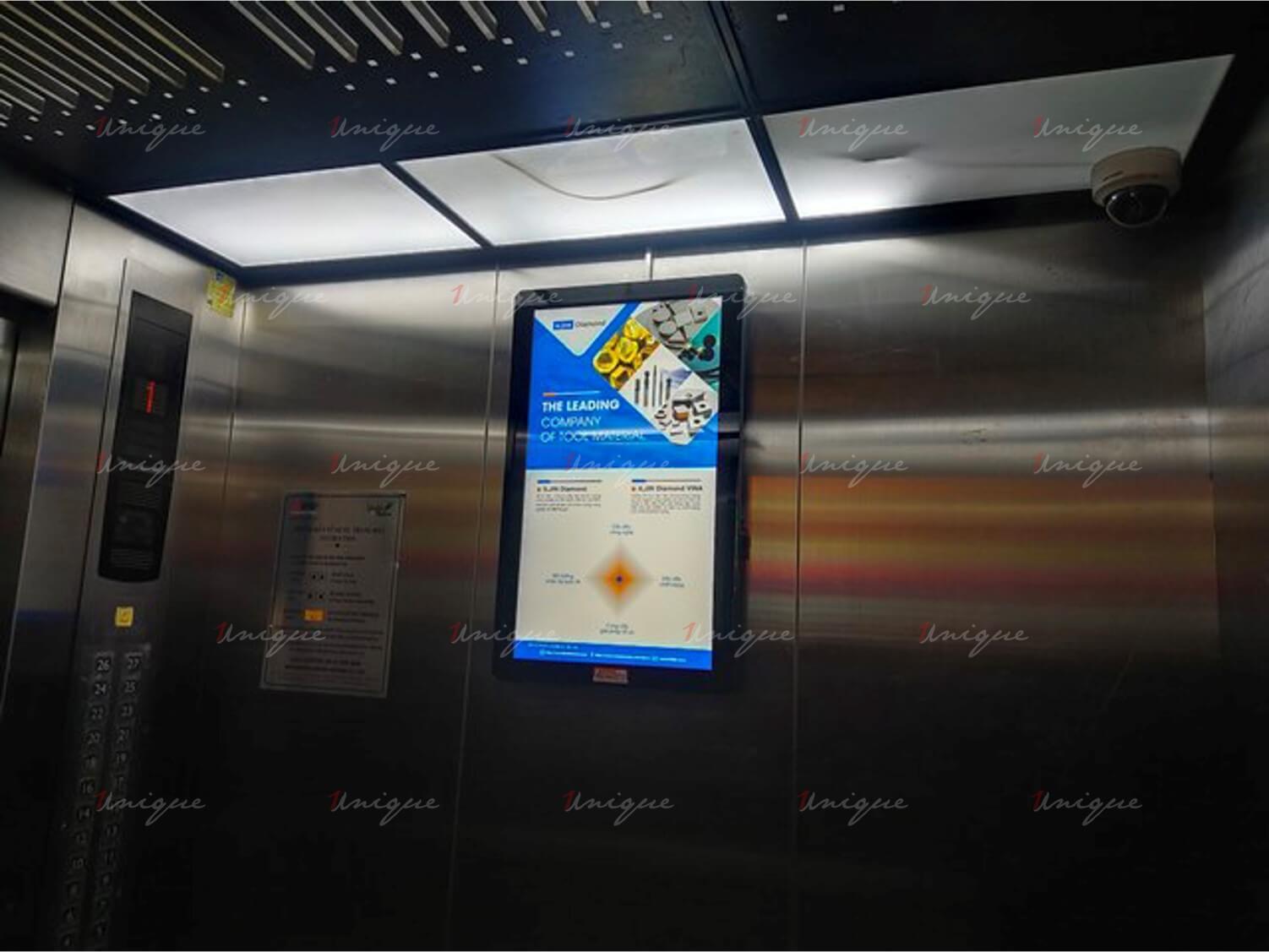 iljin diamond quảng cáo trên màn hình frame