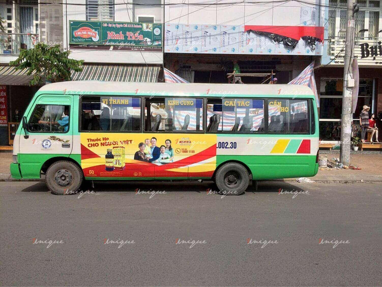 quảng cáo trên xe bus tại Cần Thơ