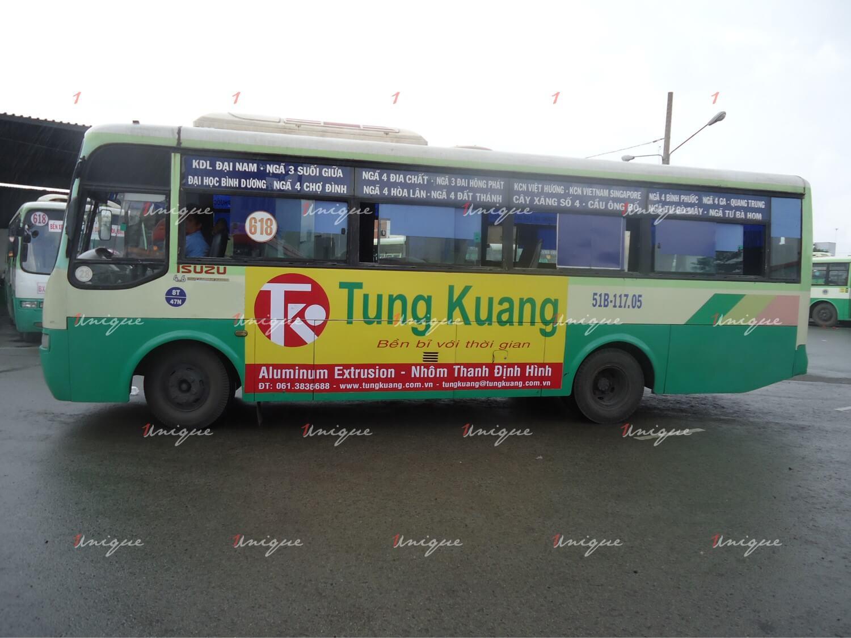 quảng cáo trên xe bus tại Bình Dương
