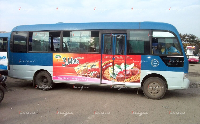 quảng cáo trên xe bus tại Huế
