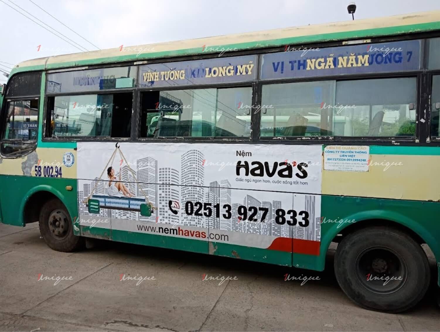 quảng cáo trên xe bus tại Vũng Tàu