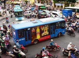 Quy định luật quảng cáo trên phương tiện giao thông