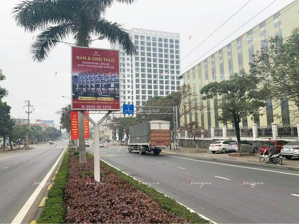 Bất động sản The City Light quảng cáo biển hộp đèn tại Vĩnh Phúc