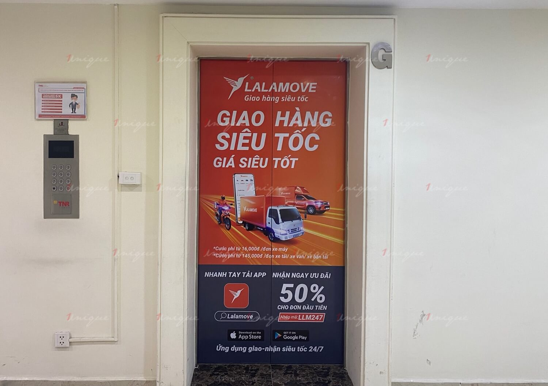 Chiến dịch quảng cáo dán thang máy của Lalamove