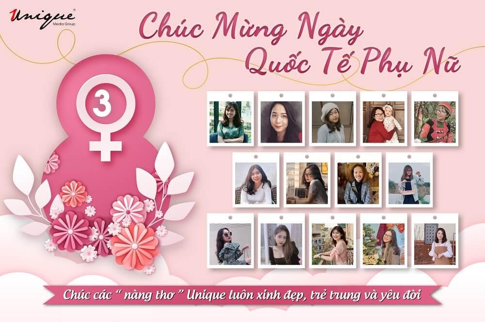 Ngày Quốc tế Phụ nữ 8/3 tuyệt vời của chị em Unique