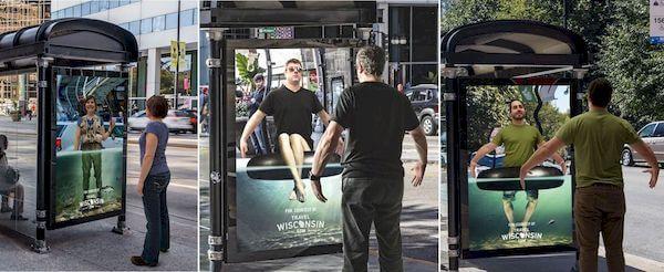 quảng cáo nhà chờ xe buýt sáng tạo