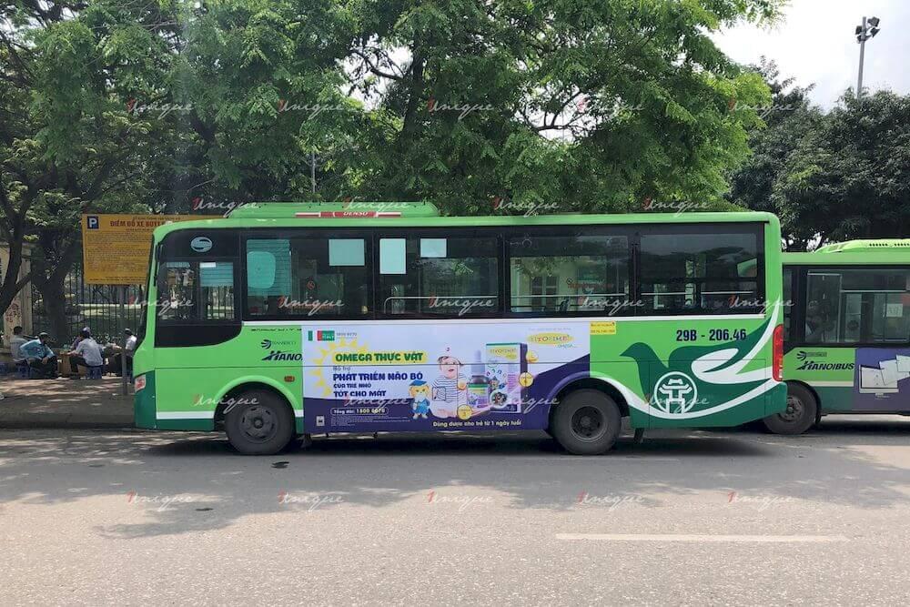 Siro Fitobimbi quảng cáo trên xe buýt Hà Nội