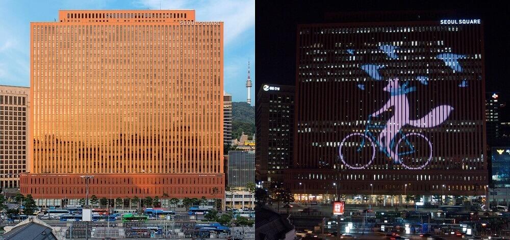 Led building tại Seoul Square, Hàn Quốc