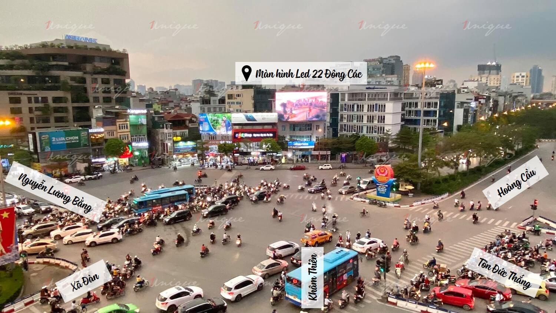Màn Led quảng cáo ngoài trời tại 22 Đông Các Ngã 7 Ô Chợ Dừa