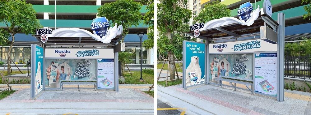 nhà chờ xe buýt điện VinBus sáng tạo