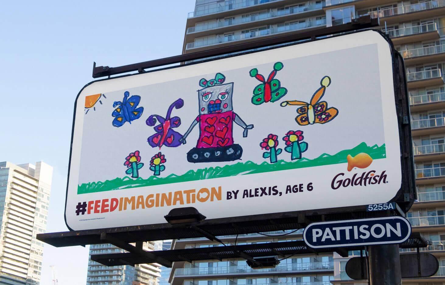 Chiến dịch OOH Feed Imagination của Goldfish: Mang cả thế giới trẻ thơ lên bảng quảng cáo ngoài trời
