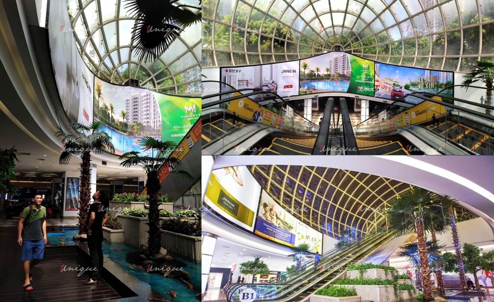 Màn hình LED quảng cáo tại TTTM Vincom Mega Mall Times City
