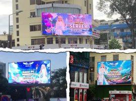 VTC Game quảng cáo màn hình Led ngoài trời tại ngã tư Nguyễn Thị Minh Khai - Trương Định