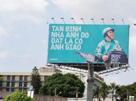"""Chiến dịch quảng cáo ngoài trời sáng tạo của BEAMIN: Làm thơ """"thả thính"""" các quận ở Hà Nội, Sài Gòn"""