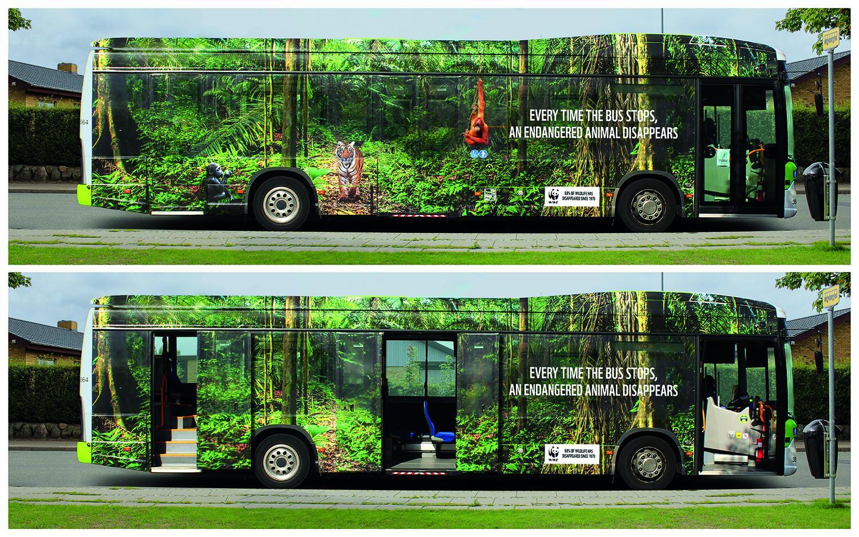 Chiến dịch quảng cáo xe bus cảnh báo tốc độ biến mất của các loại động vật hoang dã
