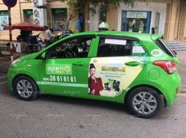 Zenpali Group quảng cáo trên xe taxi Open99 tại Hà Nội