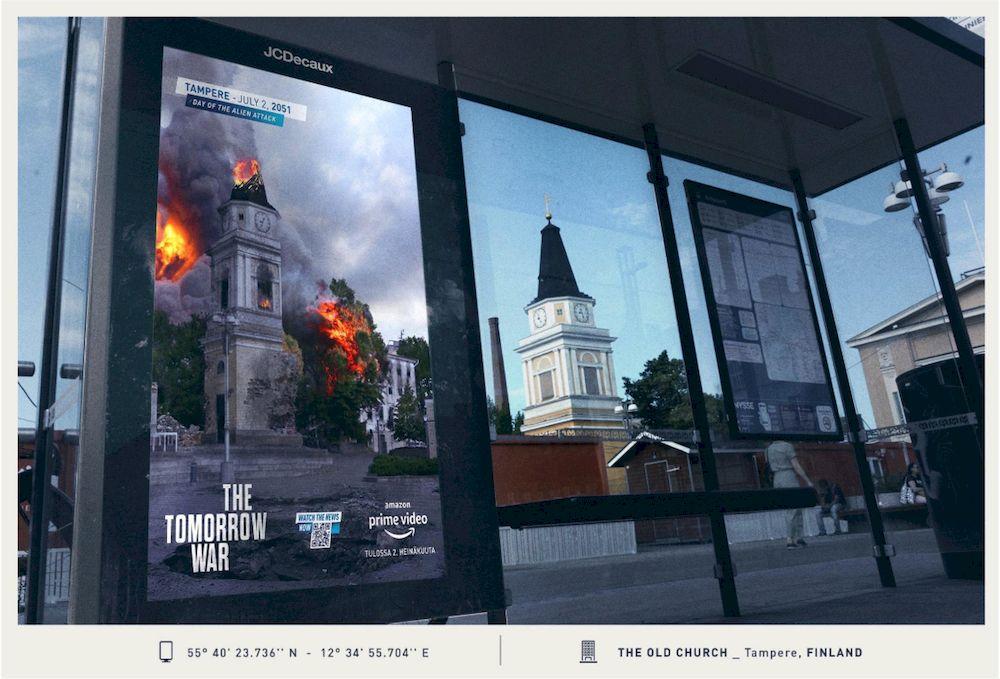 """Chiến dịch quảng cáo ngoài trời sáng tạo của phim """"The Tomorrow War"""""""
