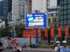 Điện Máy Xanh quảng cáo trên màn hình LED ngoài trời tại Quảng trường Nha Trang