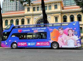 quảng cáo trên xe bus 2 tầng sáng tạo