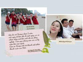 Unique chúc mừng chị Nguyễn Thu Hiền 5 năm làm việc