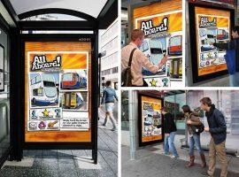 quảng cáo nhà chờ xe buýt tương tác