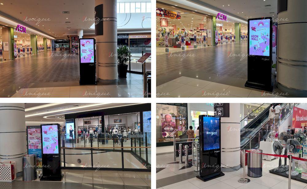 Màn hình LCD quảng cáo tại trung tâm thương mại Aeon Mall Long Biên